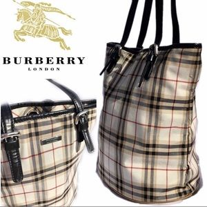 Sparkle material Burberry Bucket Bag.